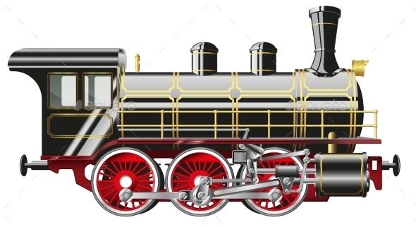 GraphicRiver Steam Locomotive 9387175
