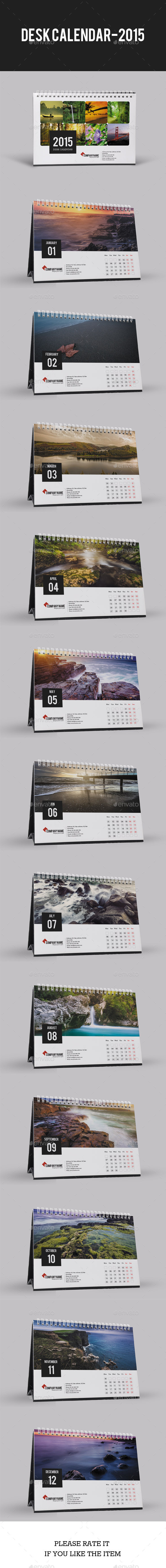 GraphicRiver Desk Calendar for 2015 9387259