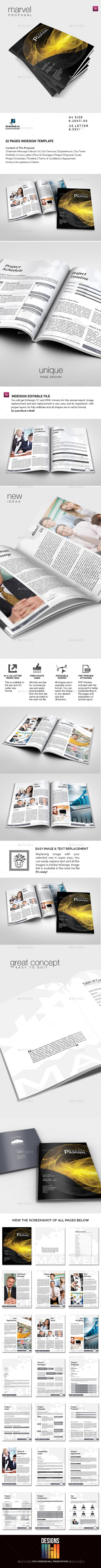 GraphicRiver Marvel Multipurpose Business Proposal 9387269