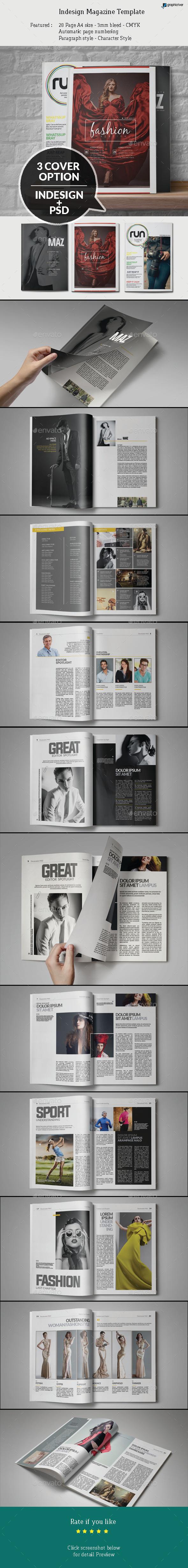 GraphicRiver Indesign Magazine Template 9387366