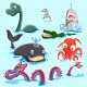 Monsters of the Deep Blue Sea Collection Set - GraphicRiver Item for Sale