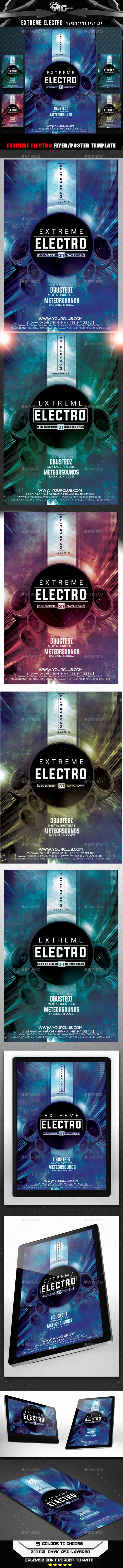 GraphicRiver Extreme Electro Flyer Template 9395842