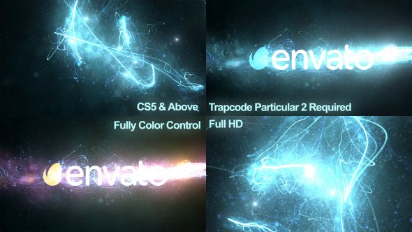 Glowing Particles Logo Reveal 5