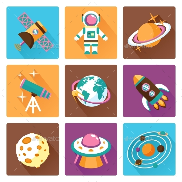 GraphicRiver Space Icons Set 9396003