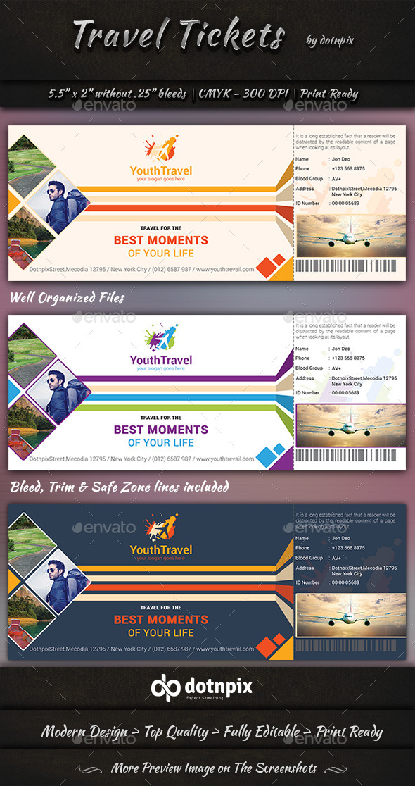 GraphicRiver Travel Tickets 9396250