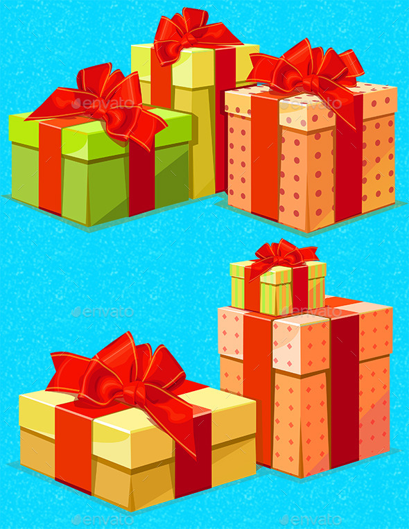 GraphicRiver Gift Boxes 9398321