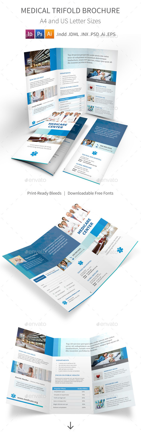 GraphicRiver Medical Trifold Brochure 9400813