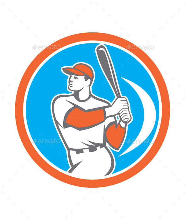 GraphicRiver Baseball Batter Circle 9400860