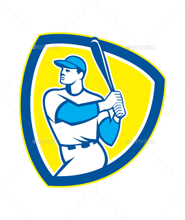 GraphicRiver Baseball Batter Shield 9400867