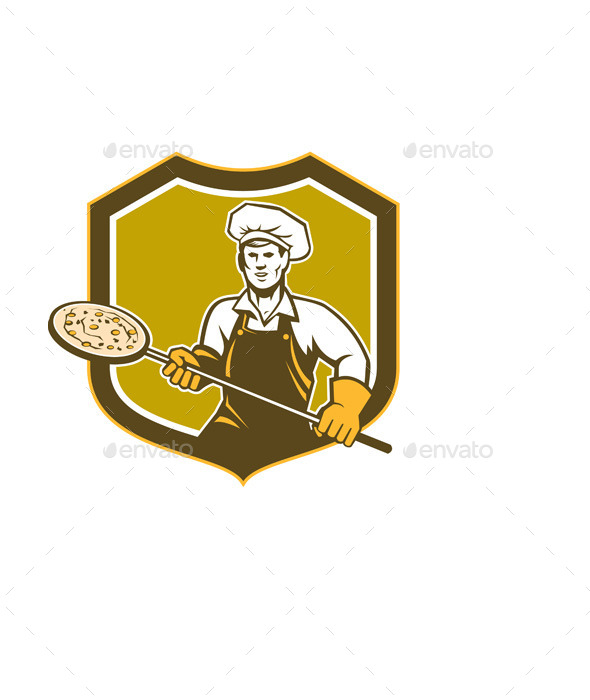 GraphicRiver Pizza Maker Shield 9400961