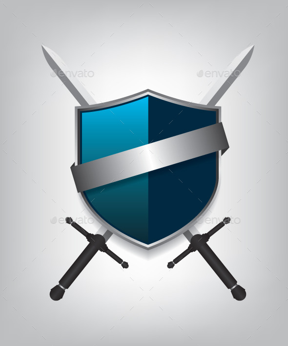GraphicRiver Swords and Shield 9401098