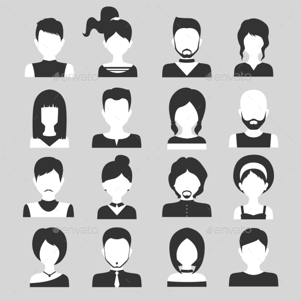 GraphicRiver People Avatar Set 9401212