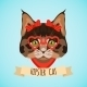 Hipster Cat Portrait - GraphicRiver Item for Sale
