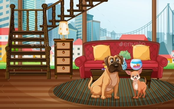GraphicRiver Dogs in the Living Room 9401398