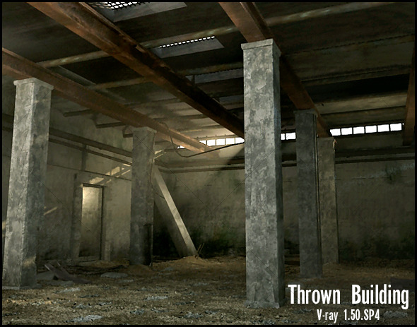 Thrown building - 3DOcean Item for Sale
