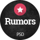 Rumors - Celebrity Gossip PSD Template
