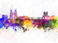York skyline in watercolor background - PhotoDune Item for Sale