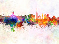 Preston skyline in watercolor background - PhotoDune Item for Sale