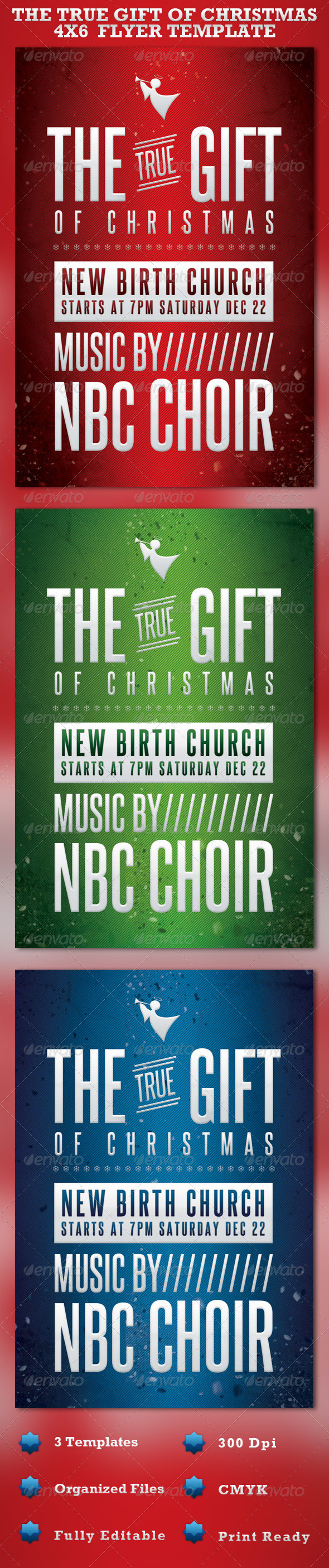 GraphicRiver The Gift of Christmas Church Flyer Template 957649