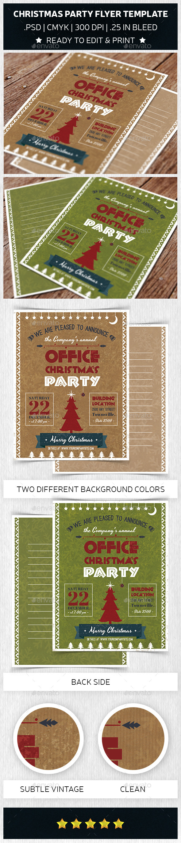 GraphicRiver Christmas Party Flyer Template Trend 9402079