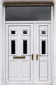 White front door of a London Town House - PhotoDune Item for Sale