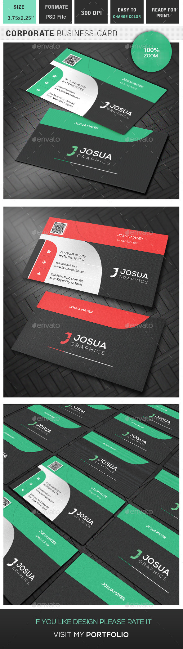 GraphicRiver Corporate Business Card 9402708