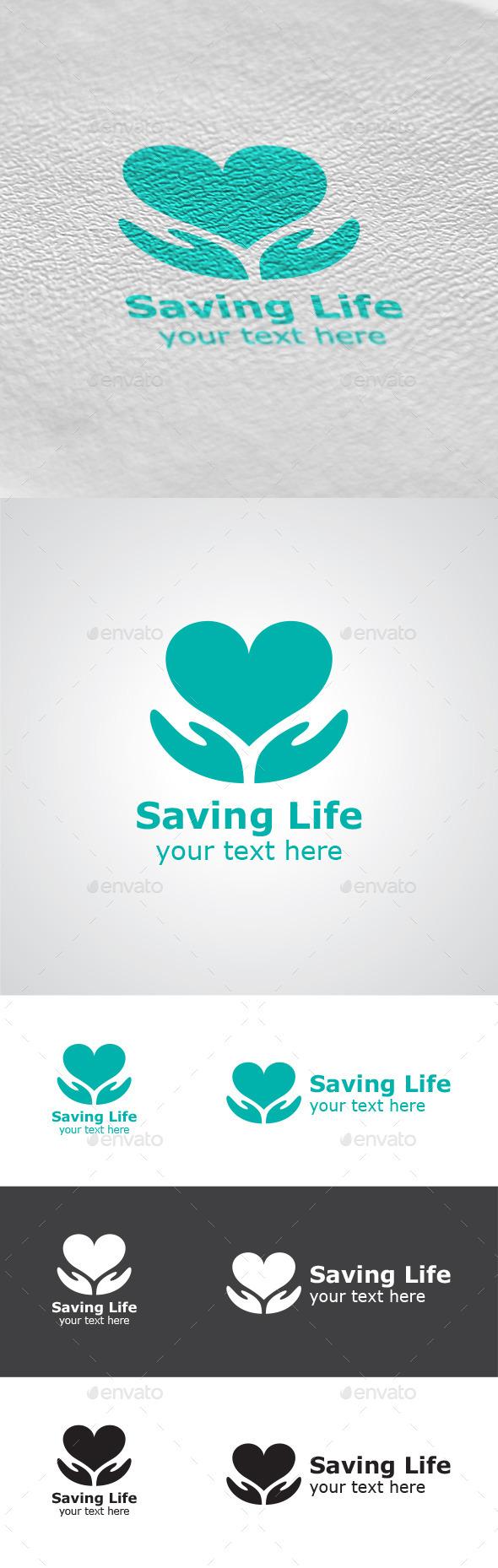 GraphicRiver Saving Life Logo 9403037