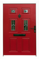 Red Front Door of a London Town House - PhotoDune Item for Sale