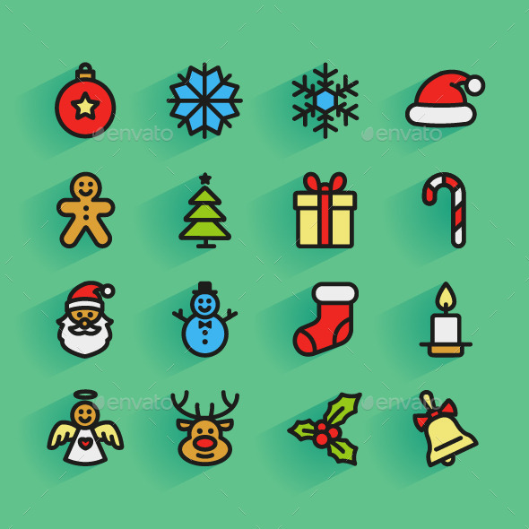GraphicRiver Set of Christmas Icons 9403086