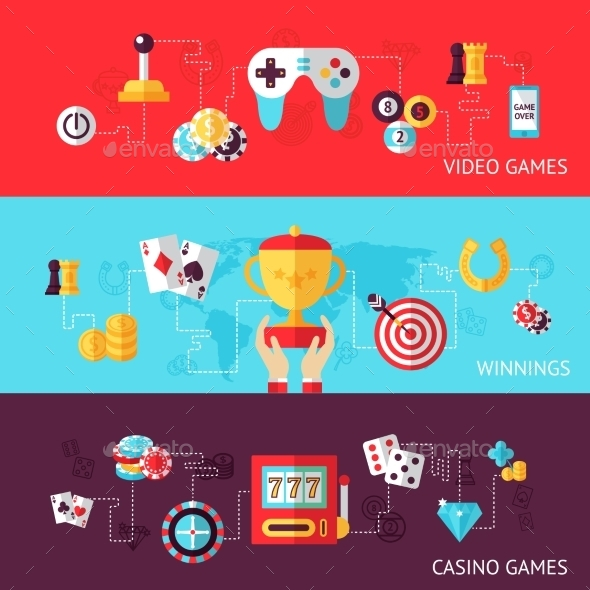 GraphicRiver Game Design Bnner Set 9403170