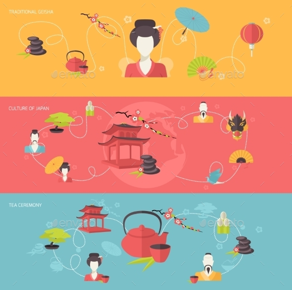 GraphicRiver Japanese Banner Set 9403363