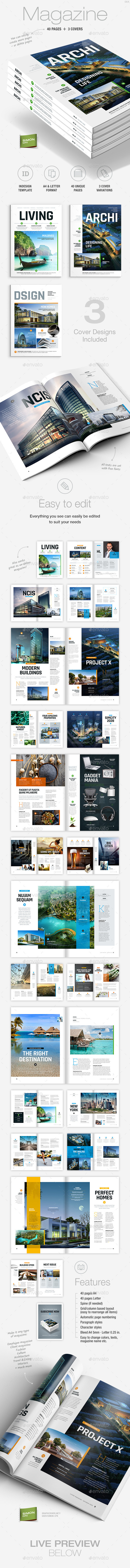 GraphicRiver Magazine Template A4 and Letter Living 9403993