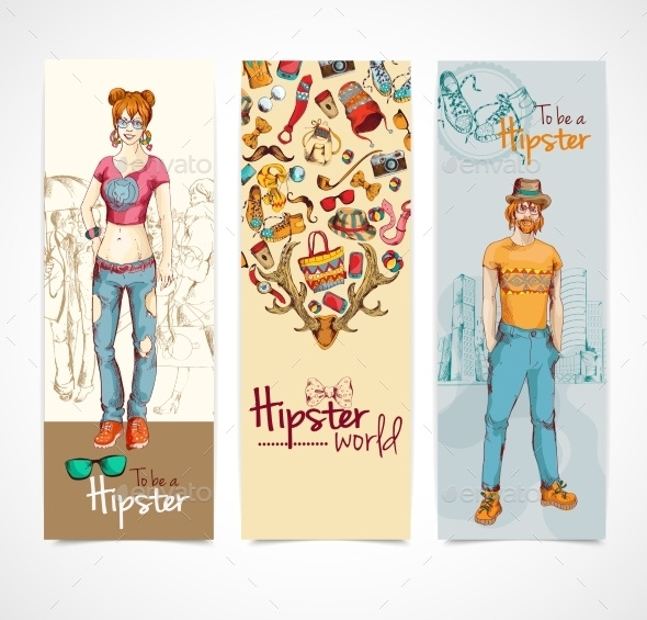 GraphicRiver Hipster Banners 9404442