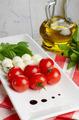 Caprese salad in shape of Italian flag - PhotoDune Item for Sale