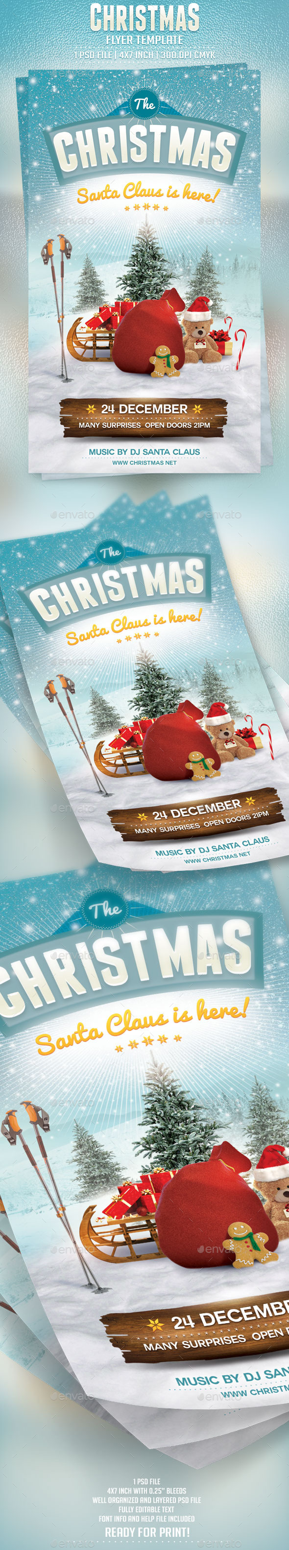 GraphicRiver Christmas Flyer Template 9404470