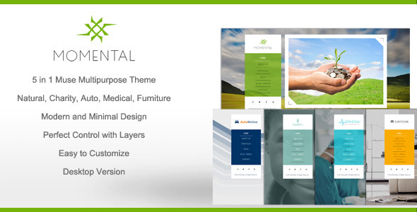ThemeForest Momental Multipurpose Muse Theme 9404578