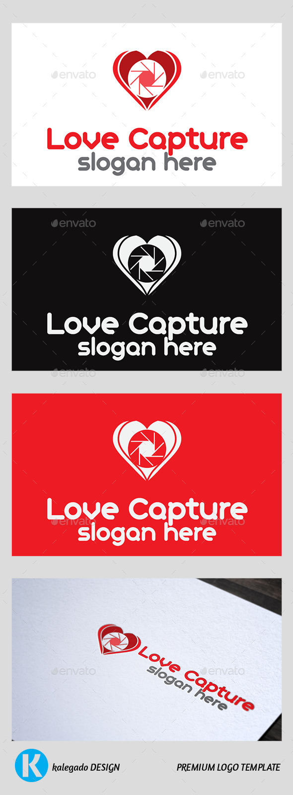 GraphicRiver Love Capture Logo 9404816