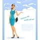 Girl in Stewardess Uniform - GraphicRiver Item for Sale