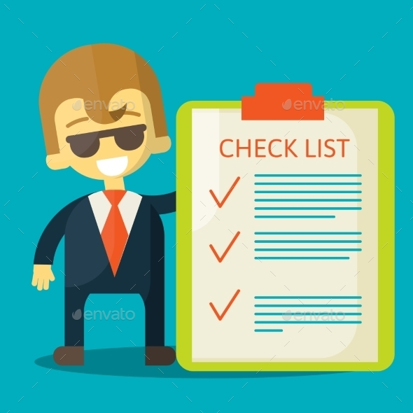 GraphicRiver Businessman with Checklist 9405085