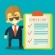 Businessman with Checklist - GraphicRiver Item for Sale