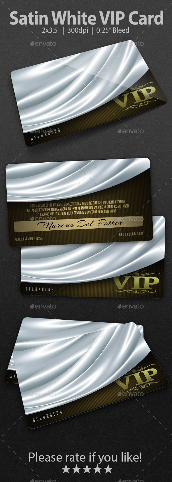 GraphicRiver Satin White VIP Card 9348186