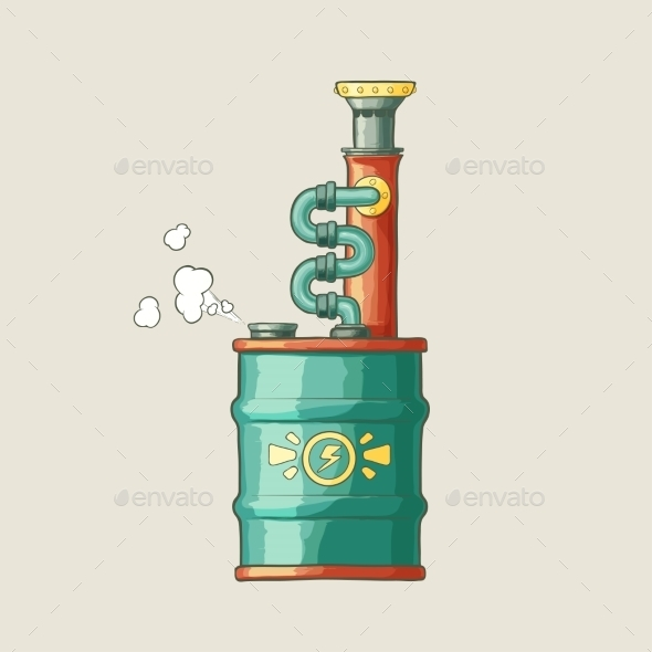 GraphicRiver Steampunk Styled Boiler 9405374