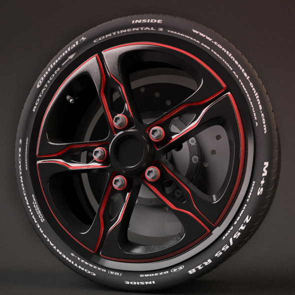 Wheel Tire - 3DOcean Item for Sale