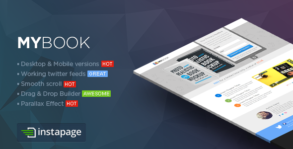 ThemeForest MYBook Instapage ebook Landing Page 9405886