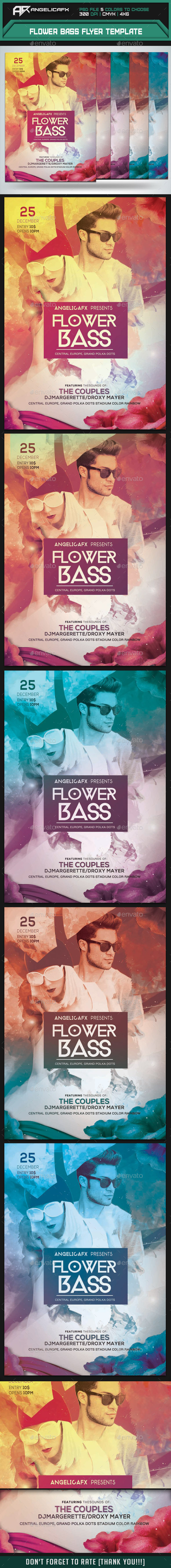 GraphicRiver Flower Bass Flyer Template 9405896