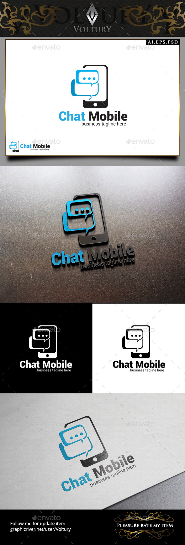 GraphicRiver Chat Mobile Logo 9406020