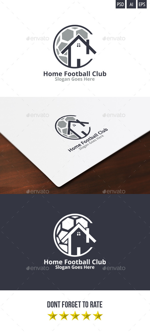 GraphicRiver Home Football Club Logo 9406038