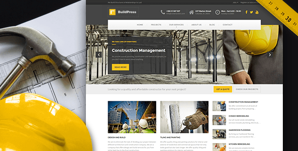 BuildPress WP Theme For Construction Business