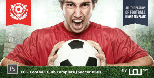 ThemeForest FC Football Club Template Soccer PSD 9326478