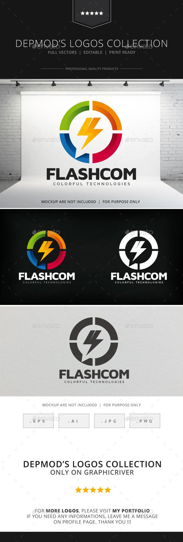 GraphicRiver Flashcom Logo 9007363